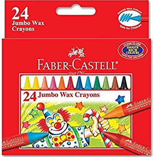 Faber-Castell Jumbo Wax Crayons 24 Colors