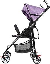 Sillas Ligeras Cochecitos de niño Plegable Conveniente Carrito de bebé Puede Sentarse Acostarse Cochecitos Cochecitos Cochecitos de Viaje Simples (Color : Purple, tamaño : 27.55 * 18.89 * 38.58inchs)
