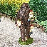 Garten-Statuen, Gartenzwerge, Bigfoot, Kunstharz, Ornament, Skulpturen, interessante Gartenstatuen, für den Außenbereich, Rasen, Einweihungsgeschenk, Hofkunst-Dekoration