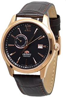 Orient Mens Automatic Watch, Analog Display and Leather Strap FAL00004B0