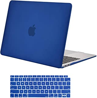 MOSISO MacBook Air 13 inch Case 2019 2018 Release A1932 with Retina Display, Plastic Hard Shell Case & Keyboard Cover Skin Only Compatible with MacBook Air 13 with Touch ID, Royal Blue