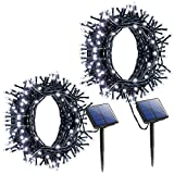 Litom Outdoor Solar String Lights 200 LED Solar Decorative Power Light with 8 Working Modes [2…