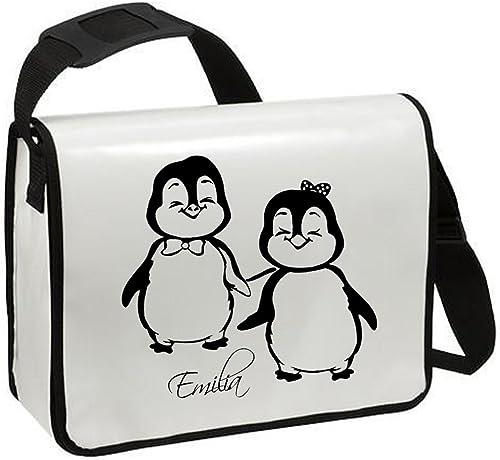 bienvenido a elegir TA110bolso de búho bolsa de hombro hombro hombro con pingüinos sentados Pingüino ta215 blancoe Tasche negroer Aufdruck  descuento de ventas