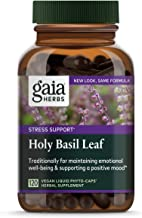 Gaia Herbs, Holy Basil Leaf, Stress Support, Adaptogenic Ayurvedic Herb, Tulsi Extract, Vegan Liquid Capsules, 120 Count