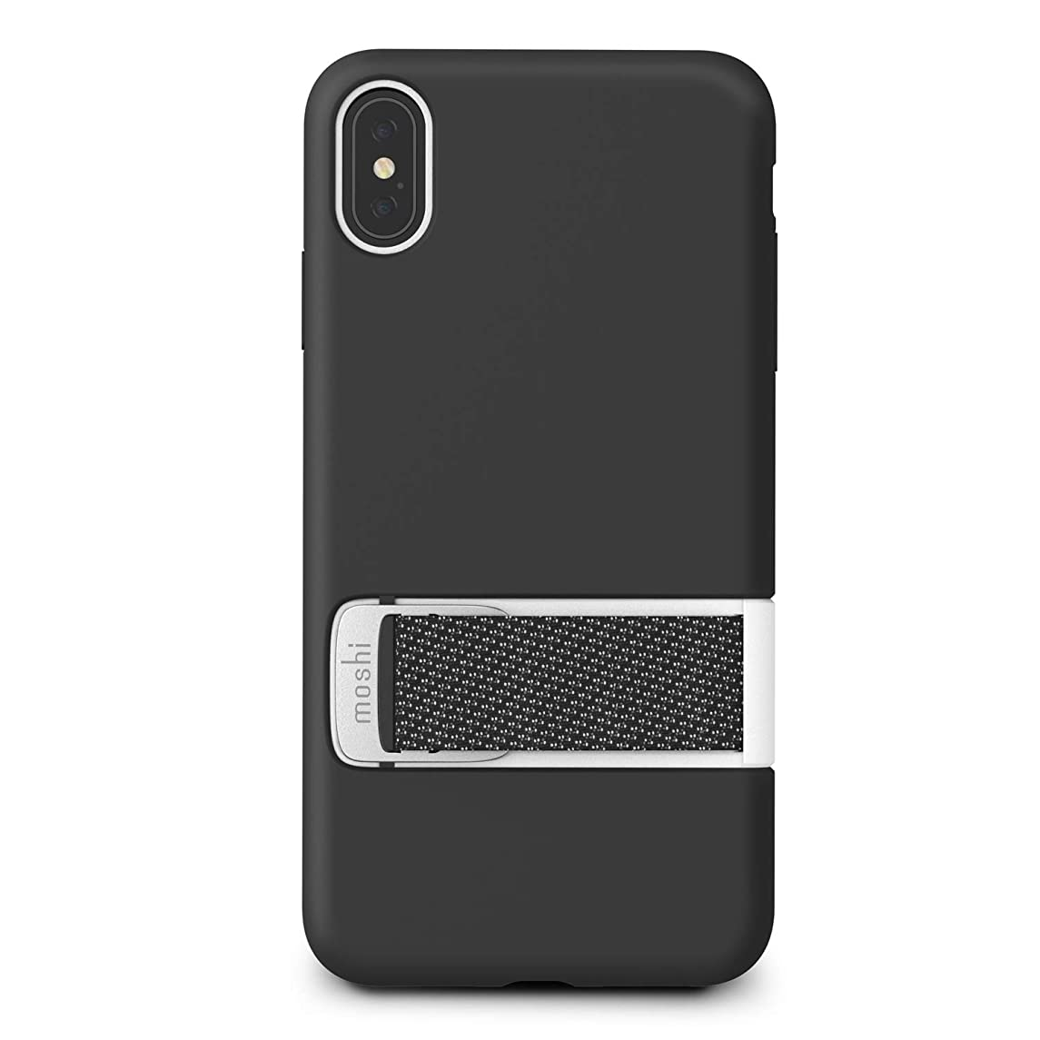 Moshi Capto Case for iPhone Xs MAX with Kickstand Slim Loop Military-Grade Drop Protection Wireless Charging, Black