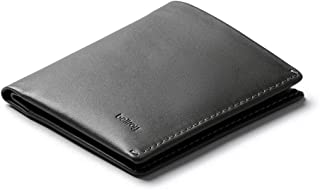 Bellroy Note Sleeve, Slim Leather Wallet, RFID Editions Available (Max. 11 Cards, Bills and Coins) - Charcoal - RFID