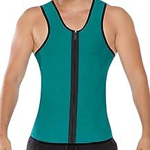 Mens Sauna Taille Trainer Vest Gewichtsverlies Hot Zweet Neopreen Body Shaper Rits Workout Tank Top