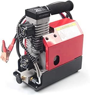 GX Portable PCP Air Compressor,4500Psi/30Mpa,Oil-Free,Powered by Car 12V DC or Home 110V AC with Adapter,Paintball/Scuba Tank Compressor(CS2)
