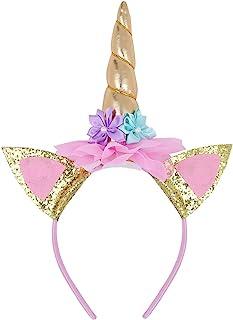 FEESHOW Headband Birthday Rose Flower Headband Party Halloween Christmas Animal Ears