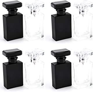 Foraineam 8 Pack 30ml / 1 oz. Refillable Perfume Bottle, Portable Square Empty Glass Perfume...
