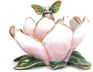 VI N VI Pink Flower Decorative Trinket Décor Collectible Figurine | Gifts and Souvenirs for Home, Kitchen, Special Occasions