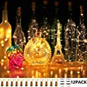 12-Pack Cuucor Fairy Mini String Cork Lights