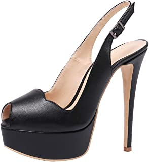 Women's Slingback High Heels Party Pumps with Platform