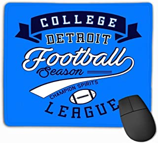 Mousepad Non Slip Rubber Personalized Unique Gaming Mouse Pad 11.81 X 9.84 Inch College Football League Design Letters Numbers