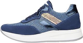 Nero Giardini E010470D Sneakers Donna in Pelle, Camoscio E Tela