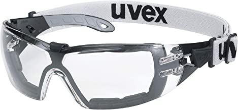 Uvex Pheos Guard veiligheidsbril - Supravision Extreme - transparant/zwart-grijs