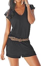Femme Combishort Casual Romper Jumpsuit Bodysuit C