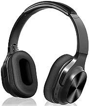 Auriculares inalámbricos Prtukyt sobre la Oreja, Sonido estéreo de Alta fidelidad, orejera de proteína de Memoria Suave, Auriculares con Cable e inalámbricos Bluetooth con micrófono para