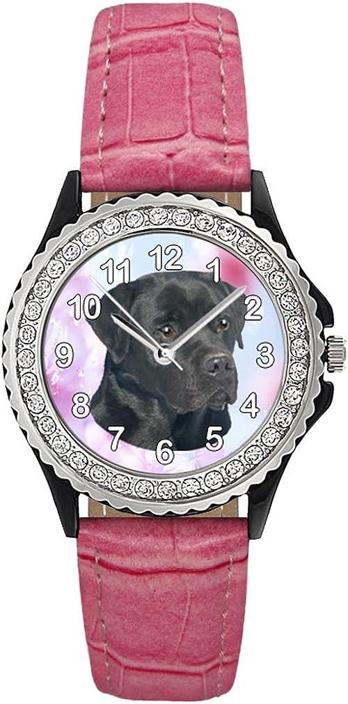 Timest - online shop Trust Black Labrador Crystal Rhinestone Watc Womens Wrist
