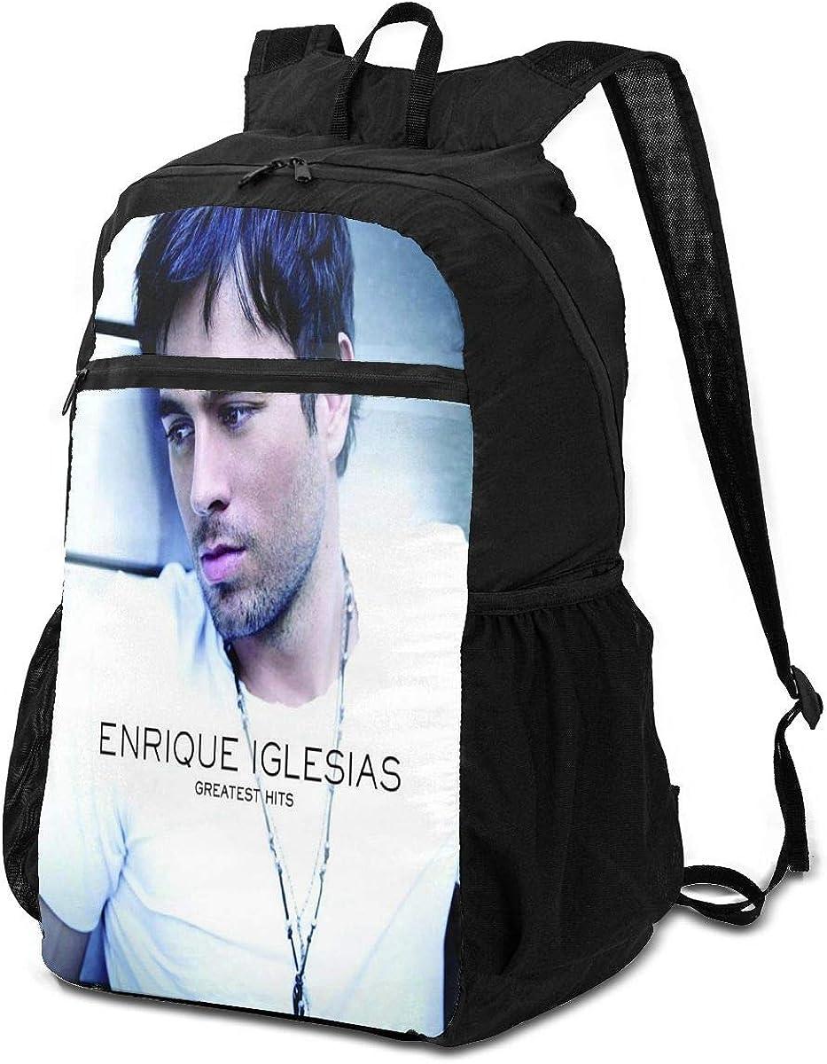 DawnMNartine Enrique Iglesias Greatest Hits Fashion Canvas 3D Print Boys Girls Bookbag Casual Backpack Tourism Backpack