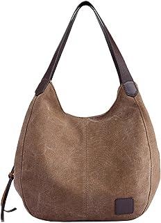 8788f9d52f6e Clearance Sale! ZOMUSA Women's Casual Multi-Pocket Canvas Handbags  Messenger Bag Tote Single Shoulder Shopping Bags