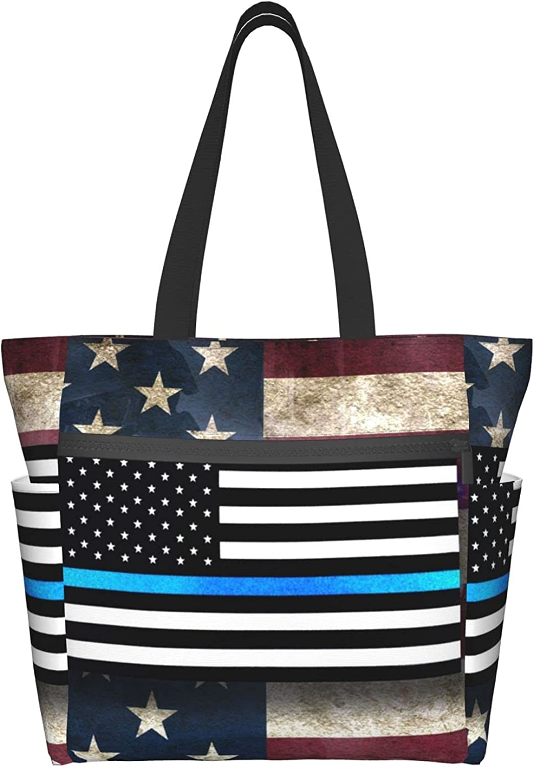 Tote Travel Bag For Women Retro Super-cheap Shoulder America Flag With M Max 61% OFF