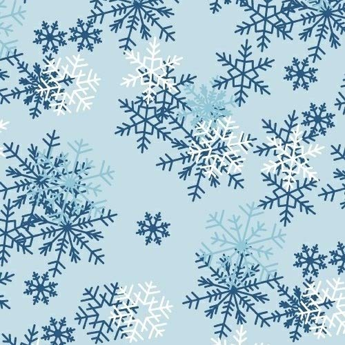 Snowflakes Anti-Pill Fleece Fabric by The Yard
