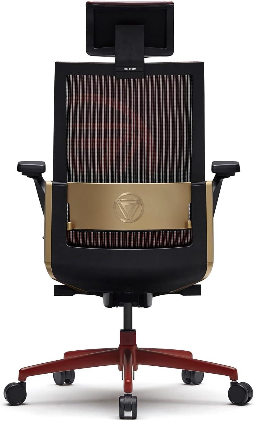 SIDIZ T80 Chair : Marvel Licensed Chair, German Mechanism for Extreme Comfort, Adjustable Headrest and Lumbar Support, 3-Way Armrests, Forward Tilt Adjustment, Adjustable Seat Depth