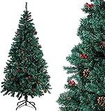 Homfa Albero di Natale di qualit per la Decorazione Natalizia con Decorazioni (195cm)