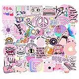 ジャション ピンク 乙女 キュート ステッカー シール ステッカーセット 防水 ステッカー ブランド  お気に入りのスーツケース、ギター、車、バイク、自転車、ヘルメット、パソコン、ラップトップ、携帯、ノート、 タブレット
