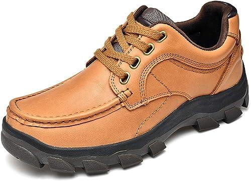 Easy Go Shopping Chaussures de Loisirs en Plein air Oxford à Bout Rond et à Lacets pour Hommes,Chaussures de Cricket (Couleur   Light marron, Taille   38 EU)