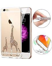 iPhone 8 Plusケース 5.5インチ、iPhone 7 Plusバンパー、SevenPanda iPhone 7 Plusケース超ソフトスリムクリアTPU クリエイティブなゲルシリコーンゴム 軽量で透明 耐スクラッチ付き衝撃吸収バンパー バック保護ケース iPhone 8 Plus 7 Plus用 - ダブルキリン