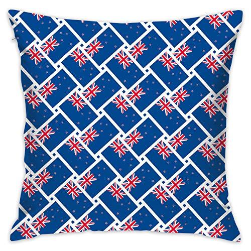TERPASTRY carré décoratif Housses de Coussin Coton Doux extérieur Drapeau de la Nouvelle-Zélande Couvre-lit Taie d'oreiller pour canapé Chambre à Coucher Bureau à Domicile de Voiture