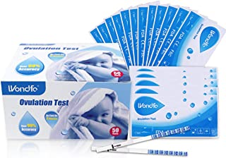 Wondfo 50xOvulation Strips Ultra Early Result Detection Kits Highly Sensitive Fast Home Self-Checking, Pack of 50