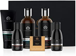 Charcoal Grooming Kit By The Man Company | Packed In Elegant Wooden Gift Box | Set Of 6 - Body Wash, Shampoo, Face Scrub, ...