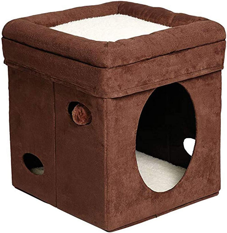 Cat Litter Folding MultiPurpose Cat Nest Storage Room Washable Windproof Basket Pet Bed Sleep Rest A Nest