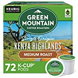 Green Mountain Coffee Roasters Kenya Highlands, Single-Serve Keurig K-Cup Pods, Medium Roast Coffee, 72 Count