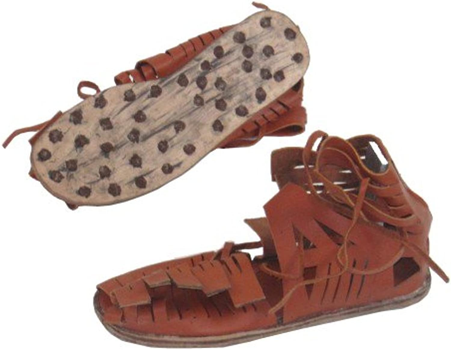 A Handtooled Handcrafted Roman Sandles 44Nos