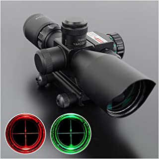 DOTXX Rifle Scopes 2.5-10X40 Red Green Illuminate Reticles Compact Gun Scope for Hunting Shooting with Accessories