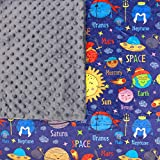 7lb Weighted Blanket For Children (60-80lbs)- Ideal For Kids With Anxiety, SPD, Autism, ADHD Or Hyperactivity. Helps Settle, Get To Sleep Faster & Reduce Meltdowns (40 X 60in-Planets)