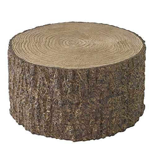 Time Concept Decorative Resin Stump Display - Extra Large (10.24' x 5.51') - Tree Log Design, Home & Garden Decor, Multipurpose Rack