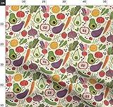 Obst, Gemüse, Tomate, Avocado, Zitrone, Wasserfarben