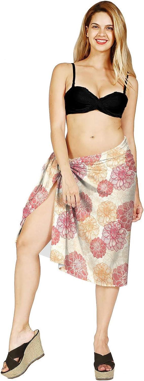 Lunarable Beach Cover Skirt, Spring Garden Botany, Pale Yellow Red