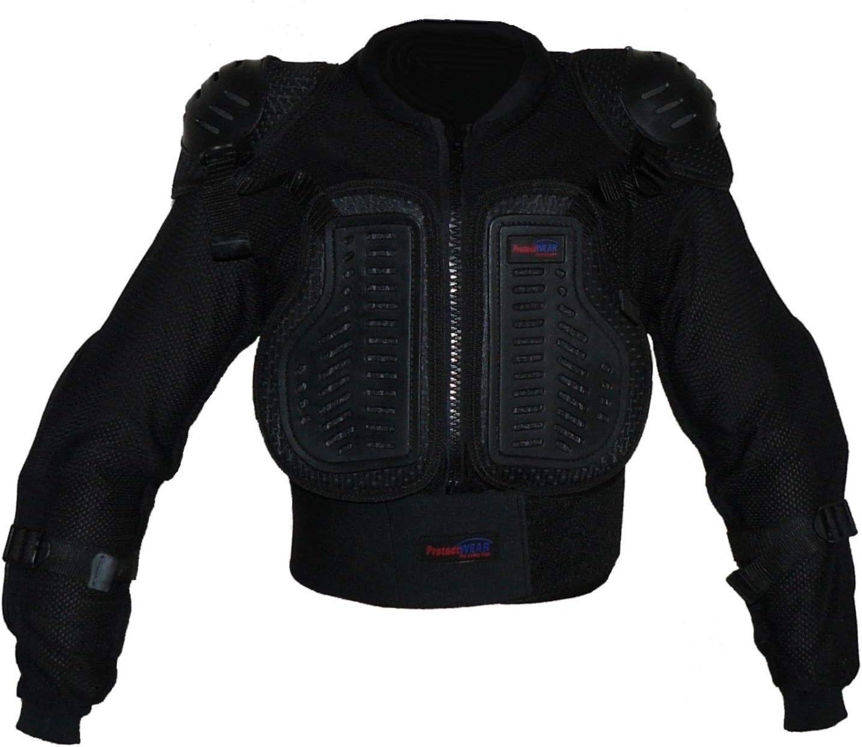 Protectwear Pjk Xs Protectwear Protektorenhemd Protektorenjacke Kinder Für Motocross Ski Snowboard Größe Xs Schwarz Auto