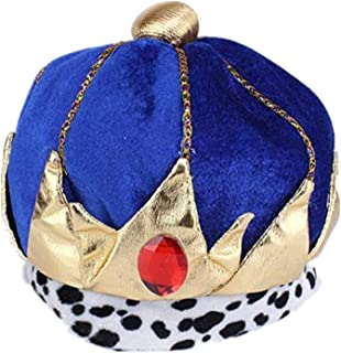 Halloween King Costume Red King Crowns Pharaoh Prince Hat Halloween Masquerade Cosplay Accessories Carnival Party Prom Ball Fancy Dress Decorations for Child Boys