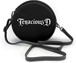 Tenacious D Cartoon Leather Round Crossbody Shoulder Bag Top Handle Tote Handbag Bag