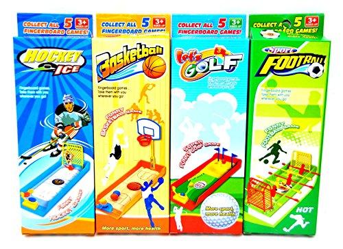 4 Stück Büro Spiele Set Kicker / Tischfußball + Basketball + Eishockey + Golf Pausen Game by schenkfix