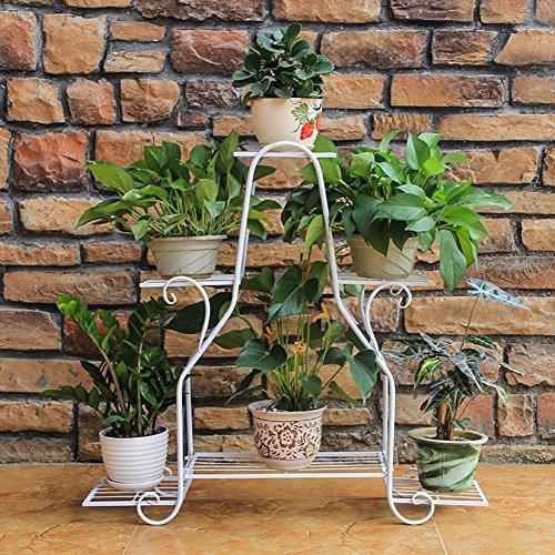 WLM Stand Support De Pot En Fer Multi-couche Support De Placement Au Sol Rack De Plante En Pot Intérieur Et Extérieur Salon Balcon Multi-fonction A+ (Color : B, Size : L)