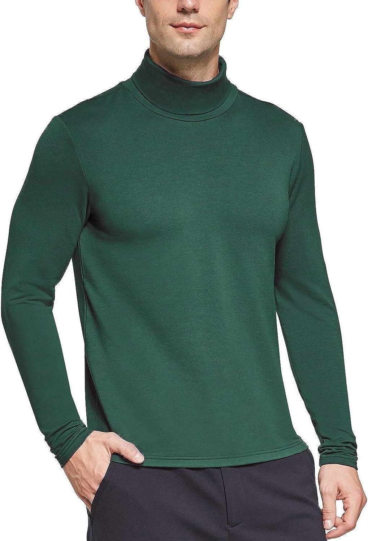 BALEAF Men's Turtleneck Thermal Shirts Long Sleeve Slim Fit Stretchy Pullover Casual Basic Top