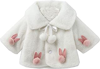 BigForest Infant Baby Girls Coat Faux Fur Long Sleeve Cape Cloak Jackets Warm Outwear Winter Clothes